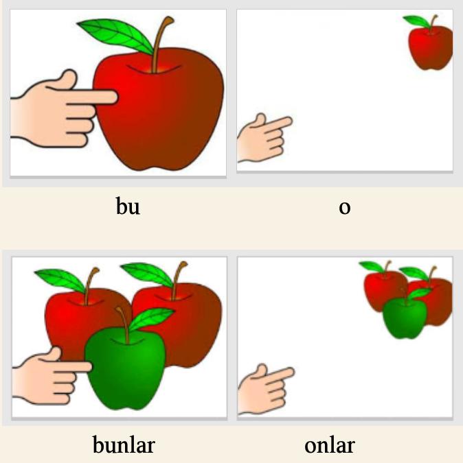 ضمایر اشاره در زبان ترکی آذربایجانی (ترکی آذری)